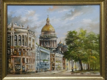 Вид с Дворцовой площади. Холст, масло. 30х40см (7000руб)