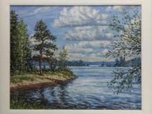 На озере Вуокса 40х50см. Холст, масло 7000р.