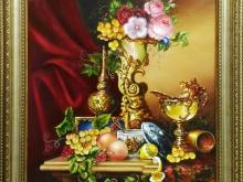 Холст, масло. 50х60 Натюрморт с лимоном - 15000р.
