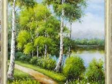 Холст, масло. 60х50 Весенний лес - 13 900р