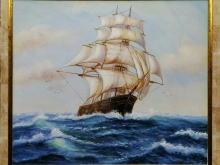 Холст, масло. 60х50 Корабль на волнах - 12 900р