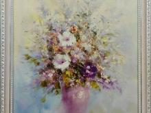 Холст, масло. 60х50 Воздушный букет цветов - 13 900р