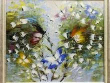Холст, масло. 60х50 Бабочки - летние красавицы - 13 900р