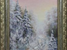 Зима, 24х18см Холст, масло (4500руб