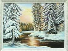 Зимняя речка , холст, масло, размер 50х70см (22900руб)