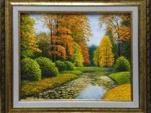 Осень в Пушкине. Холст, масло, 24х30см (5600руб)