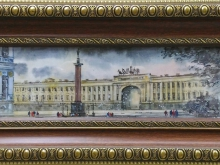 Дворцовая площадь, 10х36см Акварель (4500руб)
