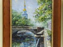 Лето в Петербурге, 20х15см Холст, масло 3500руб.