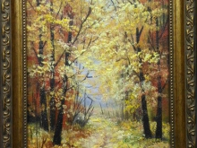 Золотая осень, 24х18см Холст, масло ( 4500руб)
