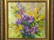 Полевые цветы. Картон, масло 15х15см (2300руб)