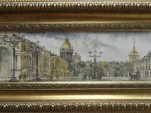 Дворцовая площадь, Акварель. 10х36см (4500руб)