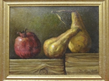Гранат и груши. Холст, масло. 24х30см (8500руб)