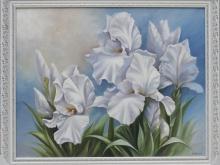 Белые лилии. Холст, масло. 50х70см (16000руб)