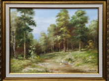 Сосновый лес. Холст, масло . 30х40см (7000руб)