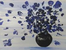 Цветы индиго. Холст, масло. 30х40см (3700руб)