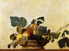 1330_70х55_М. Караваджо - Корзина с фруктами