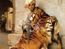 1035_90х71 Дэлакруа Э - Араб с тигровой шкурой