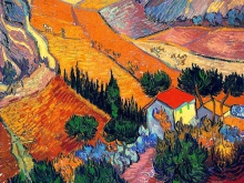 1149_60х49-В. Ван Гог Пейзаж с домом и земледельцем