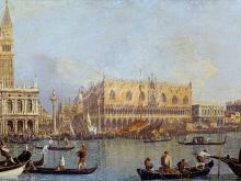 1246_80х48_Каналетто А. Дж. - Вид на собор св. Марка и Дворец дожей в Венеции
