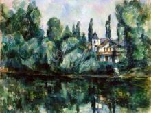 1299_45х36_Поль Сезанн - Вилла на берегу реки
