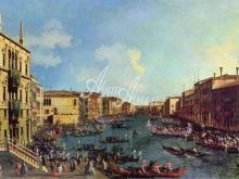 1344_50х36_Антонио Каналетто -Регата, вид со стороны Палаццо Фоскари