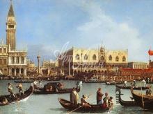 1349_35х22_Антонио Каналетто - Возвращение баржи в день Вознесения