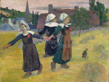 1357_90х71_Поль Гоген - Девушки танцуют в Понт-Авен