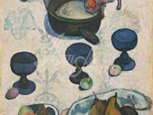 1362_90х62_Поль Гоген - Натюрморт с тремя маленькими собаками