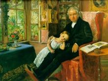 1395_65х49_Дж. Э. Миллес - Джеймс Уайетт с внучкой Мэри