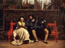 1528_65х45_Жак-Жозеф Тиссо - Фауст и Маргарита в саду