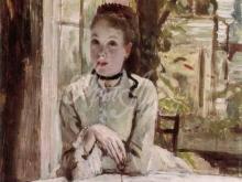 1534_65х51_Жак-Жозеф Тиссо - Женщина в элекантном интерьере
