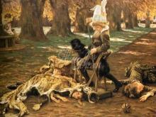 1547_65х50_Жак-Жозеф Тиссо - Юный Люциус тренируется