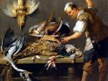 1555_45х45_Франс Снейдерс - Повар у стола с дичью