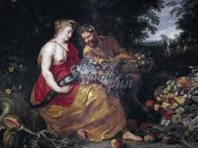 1556_90х58_Франс Снейдерс и ученик Рубенса -- Церера и Пан