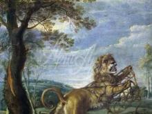 1558_90х67_Франс Снейдерс - Басня о льве и мыши