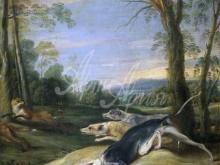 1570_90х68_Франс Снейдерс - Собаки, преследующие лисиц