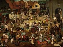 1577_110х79_П.Брейгель (Старший)- Битва карнавала и поста