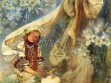 1451_60х44_А. Муха - Мадонна с лилиями