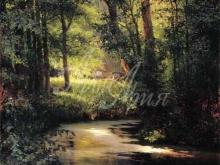 2561_50х36_Г.Г. Мясоедов - Лесной ручей. Весной