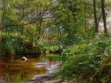 3596_60х42_П. М. Мёнстед - Речной пейзаж. 1897г.