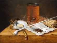 1276_36x60 Теодор Смитс. Табачный натюрморт с трубкой