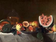 1478_100х145_Пенсионанте дель Сарачени - Натюрморт с фруктами и графин