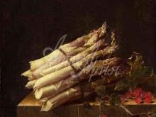 1494_80х58_Адриан Коорте - Натюрморт со спаржей и красной смородиной