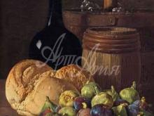 1501_80х56_Луис Мелендес - Натюрморт с инжиром и хлебом
