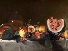 1503_90х62_Пенсионанте дель Сарачени - Натюрморт с фруктами и графин