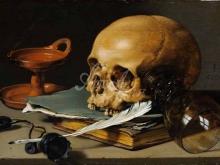 1505_90х61_Питер Клас - Натюрморт с черепом