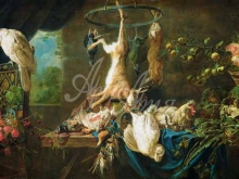 1507_60х129_Утрехт Адриан ван  - Натюрморт с дичью, овощами, фруктами и какаду