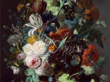 1514_100х130_Ян ван Уйсум - Натюрморт с цветами и фруктами