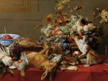 1553_100х146_Франс Снейдерс - Натюрморт с обезъянкой, котом и белкой