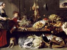 1554_80х51_Франс Снейдерс - Натюрморт со служанкой и мальчиком
